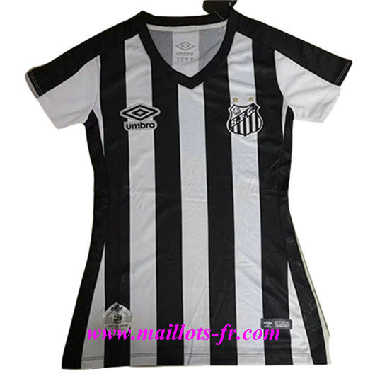 Mode‎ Maillot de Foot Santos Noir and Blanc Femme 2019/2020